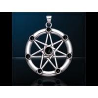 Επτάγραμμο Αστέρι με Μαύρο Όνυχα για Πνευματική Εξέλιξη