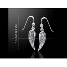 Σκουλαρίκια Αγγελικό Φτερό Για Προστασία και Ψυχική Ανάταση 925°